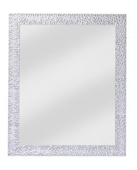 Miroir OSLO SMALL RECTANGLE  Contemporain Traditionnel Classique Rectangulaire Argenté 48x58 cm