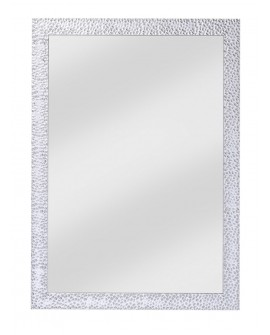 Miroir OSLO SMALL RECTANGLE L Contemporain Traditionnel Classique Rectangulaire Argenté 56x78 cm