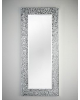 Miroir OSLO SILVER HALL Contemporain Traditionnel Classique Rectangulaire Argenté 76x176 cm
