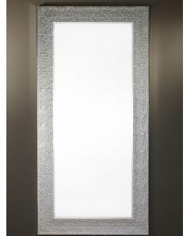 Miroir OSLO SILVER XL Contemporain Traditionnel Classique Rectangulaire Argenté 95x195 cm