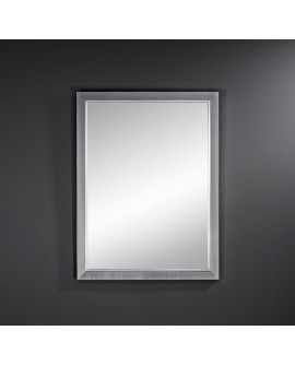 Miroir BREMEN DARK RECTANGLE Traditionnel Classique Rectangulaire Argenté 58x77 cm