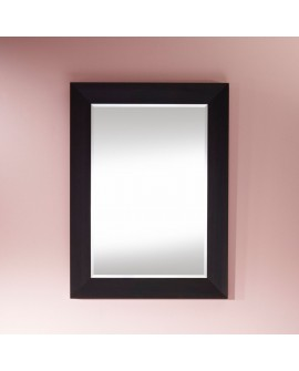Miroir VALENCIA RECTANGLE Traditionnel Classique Rectangulaire Wengé 75x103 cm