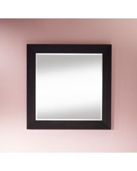 Miroir VALENCIA SQUARE Traditionnel Classique Rectangulaire Wengé 95x95 cm