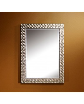 Miroir ALMERIA SILVER RECTANGLE Traditionnel Classique Rectangulaire Argenté 71x98 cm