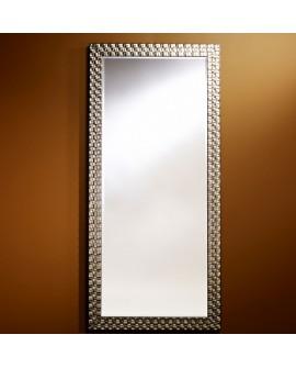 Miroir ALMERIA SILVER XL Traditionnel Classique Rectangulaire Argenté 78x168 cm