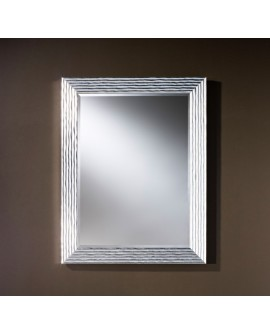 Miroir GRANADA SILVER RECTANGLE Traditionnel Classique Rectangulaire Argenté 86x111 cm