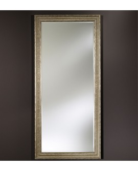 Miroir encadré Salzburg Silver XL Rectangle Argent+patine 86 X 190