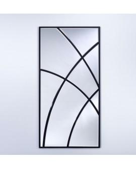 Miroir SWING Modern Rectangulaire Noir 76x151 cm