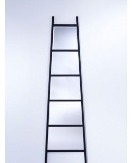 Miroir LADDER Modern Rectangulaire Noir 52x185 cm