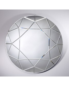 Miroir DIAMOND ROND Contemporain Ovale Naturel 90 cm