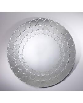 Miroir design POPPY Contemporain Rond Naturel 100 cm