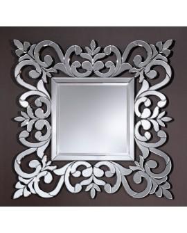 Miroir encadré Rococo Carré Miroir biseauté 110 X 109