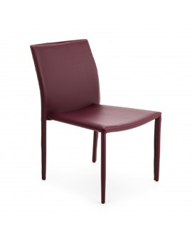Chaise écocuir prune - baakal and ross