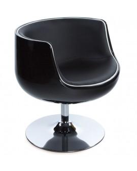 Fauteuil design HARLOW BLACK 60x60x70 cm