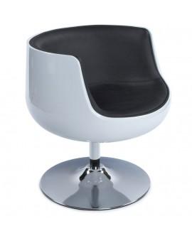 Fauteuil design HARLOW WHITE 60x60x70 cm