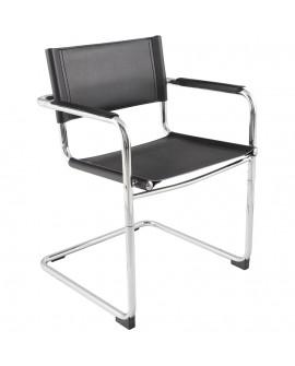 Fauteuil chaise design (non empilable) WELCOME BLACK 57x59x78 cm