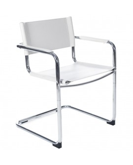 Fauteuil chaise design (non empilable) WELCOME WHITE 57x59x78 cm