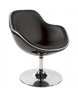 Fauteuil design DAYTONA BLACK 68x68x82,5 cm