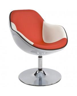 Fauteuil design DAYTONA WHITE 68x68x82,5 cm