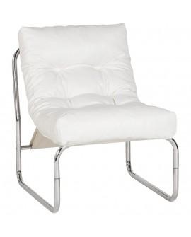 Fauteuil design (non empilable) BOUDOIR WHITE 60x73x76 cm