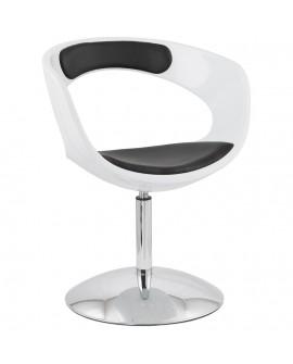 Fauteuil design KIRK WHITE 57x64x81 cm