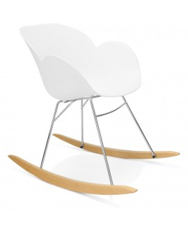 Fauteuil design KNEBEL WHITE 59x99x79 cm