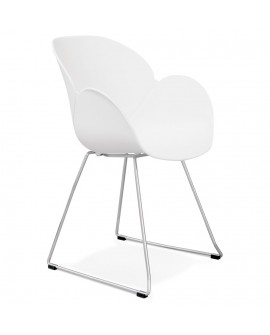 Fauteuil design TESTA WHITE 59x58x87 cm