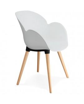 Fauteuil design SITWEL WHITE 59x59,5x84,5 cm