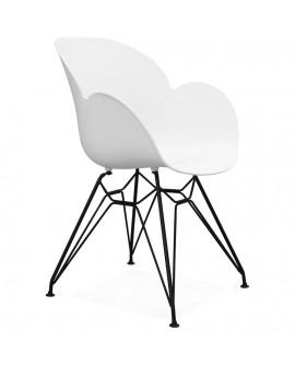 Fauteuil design UMELA WHITE 59x57,5x85 cm