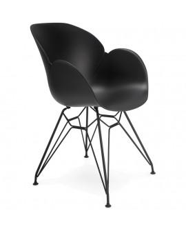 Fauteuil design UMELA BLACK 59x57,5x85 cm