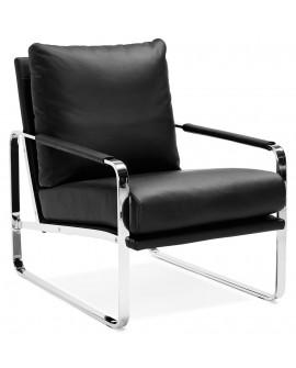 Fauteuil design ALAIN BLACK 67x94,5x88 cm
