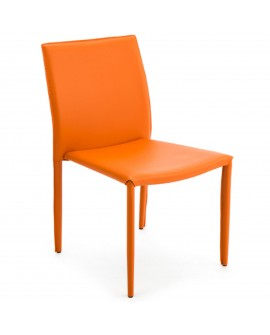Chaise écocuir orange - baakal and ross