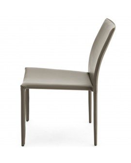 Chaise écocuir taupe - baakal and ross