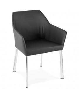 Fauteuil design LIVINGSTON BLACK 59x61x82 cm