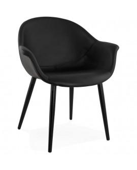 Fauteuil design MELROSE BLACK 68x62x79 cm