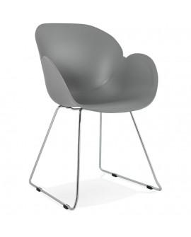 Fauteuil design TESTA GREY 59x58x87 cm