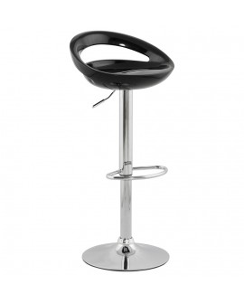 Tabouret de bar design VENUS BLACK 45x46x99 cm