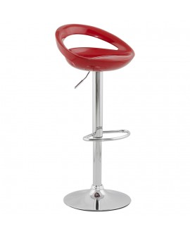 Tabouret de bar design VENUS RED 45x46x99 cm