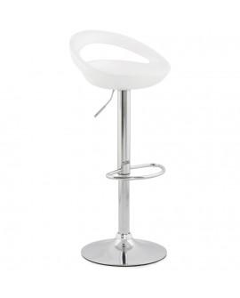 Tabouret de bar design VENUS WHITE 45x46x99 cm
