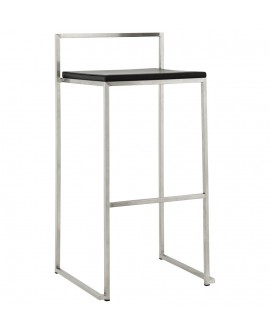 Tabouret de bar design METO BLACK 41x45x87 cm