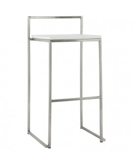 Tabouret de bar design METO WHITE 41x45x87 cm