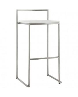 Tabouret de bar design METO WHITE 41x45x87 cm