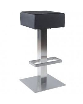 Tabouret de bar design NOBLE BLACK 40x40x80 cm