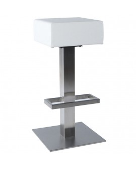 Tabouret de bar design NOBLE WHITE 40x40x80 cm