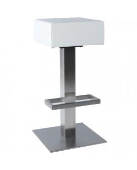 Tabouret de bar design NOBLE WHITE 40x40x80 cm