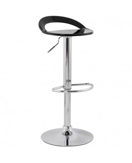 Tabouret de bar design GHOST BLACK 38x39x87 cm