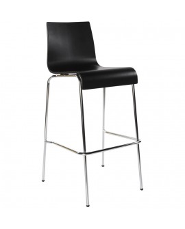 Tabouret de bar design COBE BLACK 51x52x103 cm