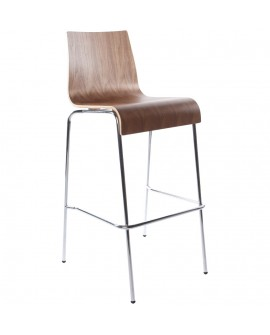 Tabouret de bar design COBE WALNUT 51x52x103 cm