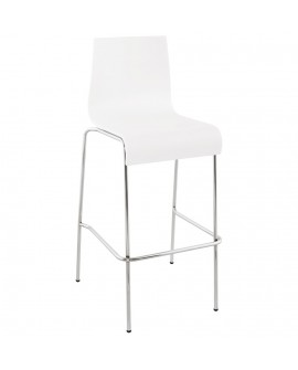 Tabouret de bar design COBE WHITE 51x52x103 cm