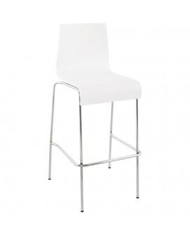 Tabouret de bar design COBE WHITE 51x52x103 cm